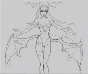Morrigan Aensland Drawing Lesson