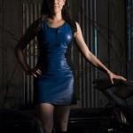 Bo in a Blue Dress