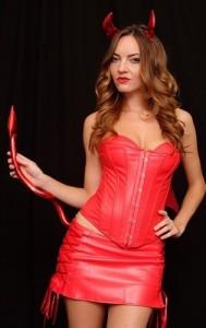 Devil Darling Leather Corset Dress