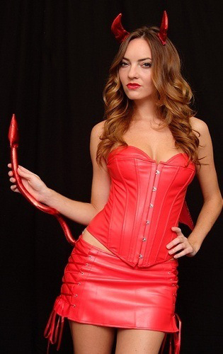 Devil Darling Leather Corset Dress