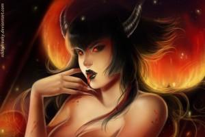 Demonio Retratosmall by Nikkyfreaky