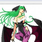 Pixel Morrigan Aensland by PainterBits2
