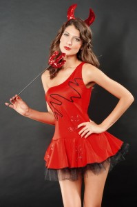 Red Fluffy Devil Costume