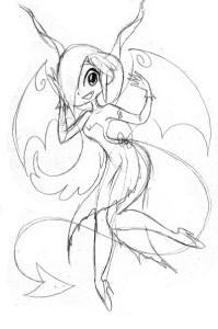 Succubus Sketch by Octopooch