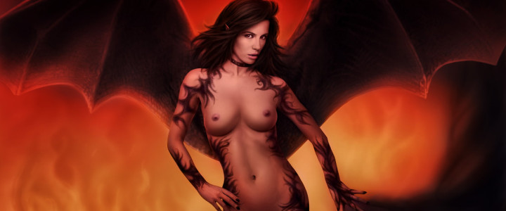 Succubus in Hell by DrewGardner