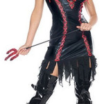 Black Sleeveless Devil Costume
