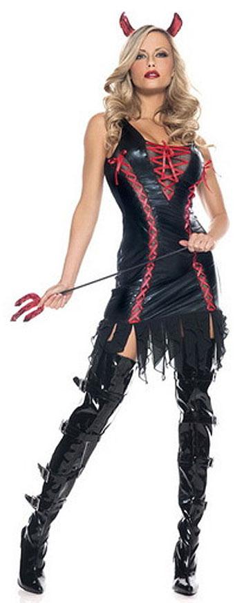 Black Sleeveless Devil Costume