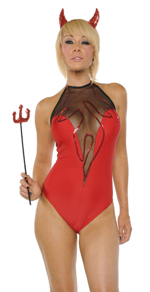 Sexy Devil Flames Bodysuit