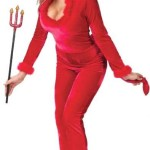 Womens Velour Sexy Devil Costume