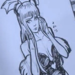 Morrigan Pen Sketch by David Patel