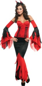 Sexy Corset Deluxe Women Devil Costume