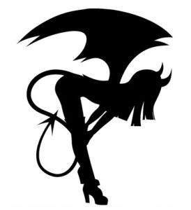 Succubus Sticker by AdorableAllureShop