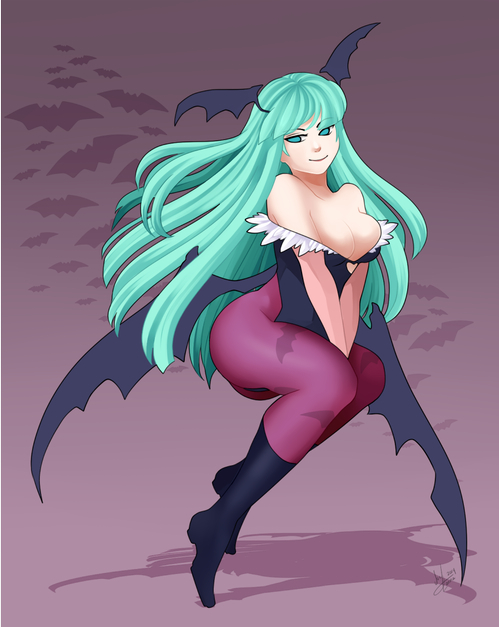 Morrigan Aensland by The Ink Monster