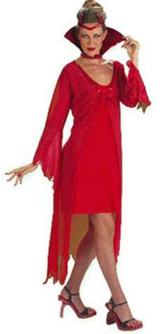 Red Sequin Devil Costume