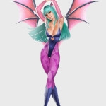 Morrigan Fan art by kike1988