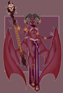 Succubus Coloring by Doctor Piper