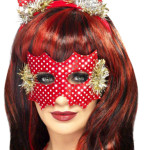 Sequin Devil Horns and Mask