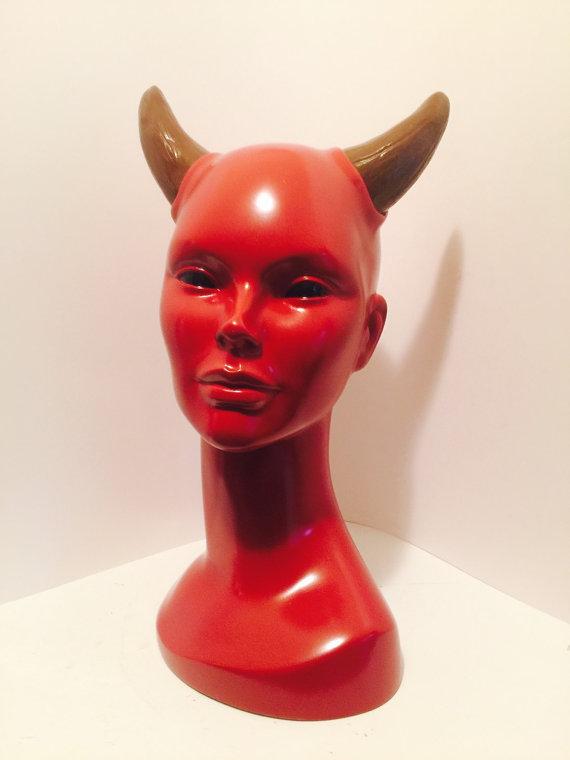 Succubus Bust Sculpture by LaCreeperie