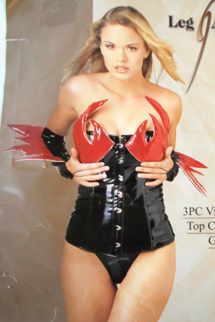 Vinyl Flame Top Corset