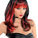 Enchantress Red and Black Wig