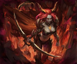 Demoness by Llyncis