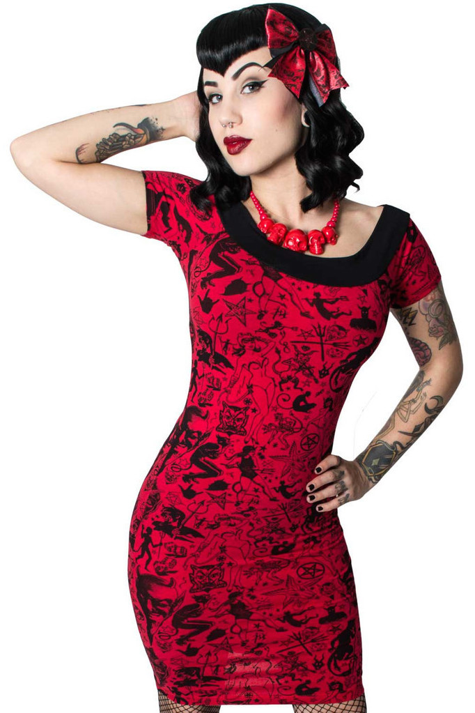 Devil Made Me Do It Pencil Dress