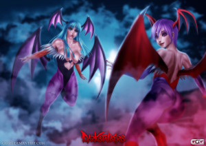 Morrigan and Lilith Aensland by GGG85