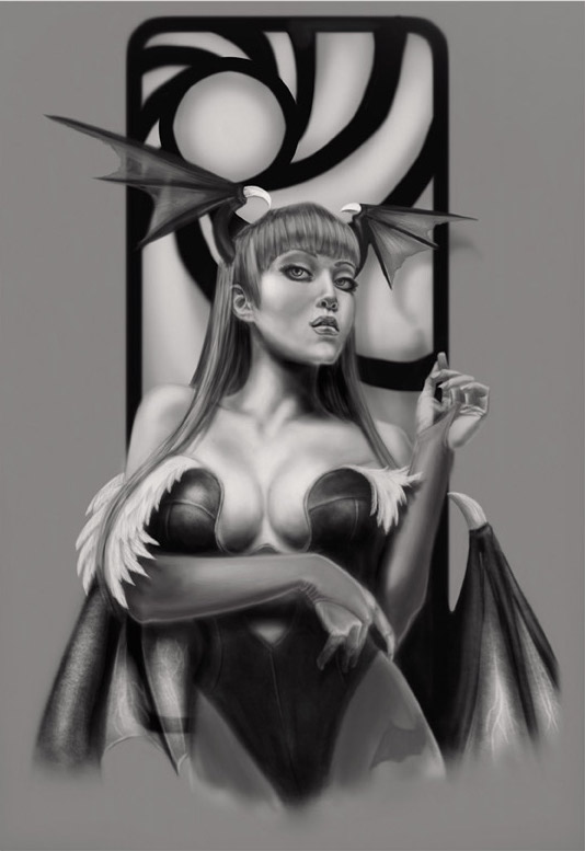 Morrigan Aensland by Baron Dzines