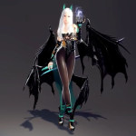Succubus Goddess Ava and Wings