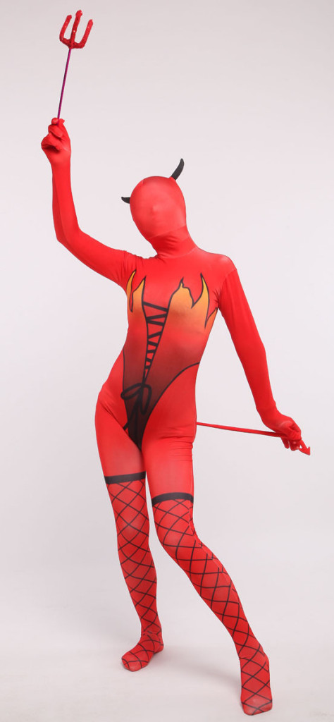 Red Devil Zentai Costume
