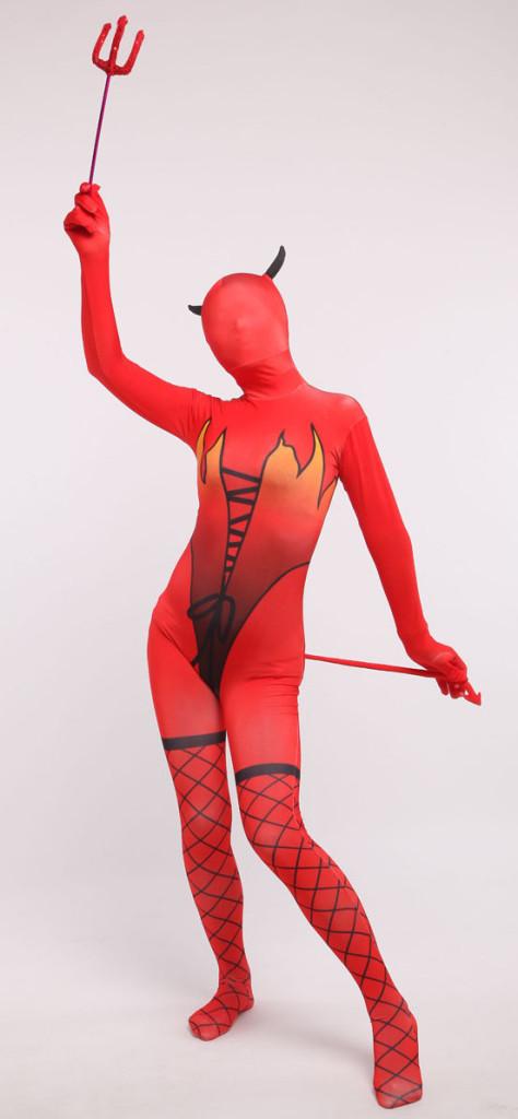Red Devil Zentai Costume