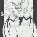 Morrigan Aensland de Darkstalkers ink by GACS-Draw
