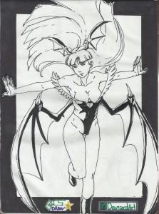 Morrigan Aensland de Darkstalkers ink by GACS-Draw