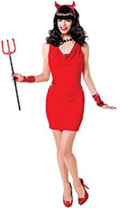 Devil Lady Sequin Red Hot Dress
