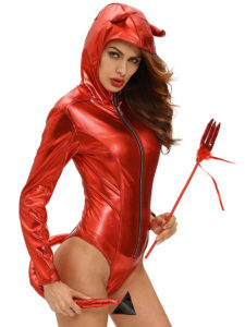 Red Horns Devil Cosplay Costume