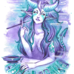 Tarot Card Cigarello Succubus by Sabtastic