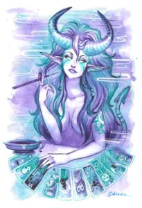 Tarot Card Cigarello Succubus by Sabtastic