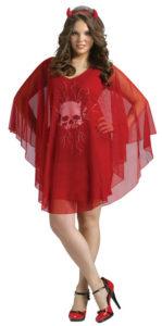 Red Poncho Devil Costume