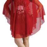 Red Poncho Devil Costume