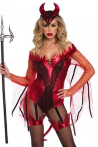 Dazzling Red Devil Costume