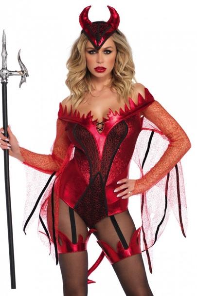 Dazzling Red Devil Costume