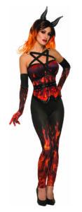 Devil's Fire Flamed Corset
