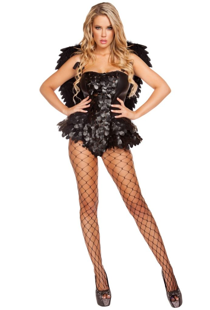 Evil Black Angel Costume
