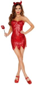 Red Sequins Devil Costume