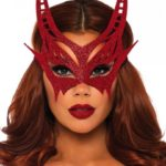 Sexy Red Glitter Devil Mask