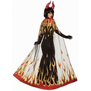 Demons and Devils Fire Costume Cape