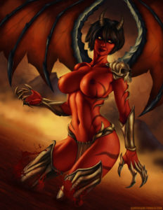 Demongirl by SamCooper