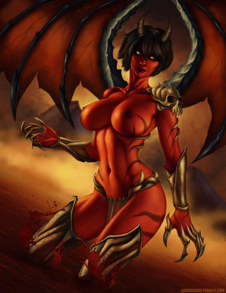 Demongirl by SamCooper