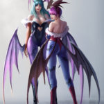 Morrigan and Lilith Aensland by TaeKwon Kim (A-rang)