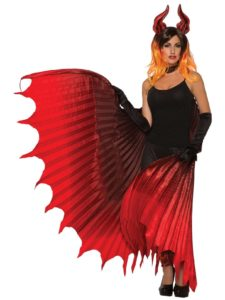 Red Devil Wings Costume Accessory